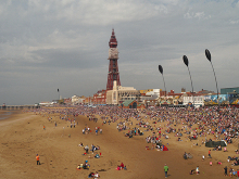 Blackpool, Beach and North Pier, Breitling Wingwalkers, Lancashire © David Dixon
